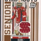 DAVID IRONS 2007 TOPPS DPP SENIOR STANDOUTS JERSEY CARD