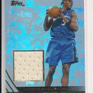 KWAME BROWN WIZARDS 2004 TOPPS GAME-WORN NBA JERSEY CARD