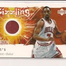 BEN GORDON BULLS 2005-06 UPPER DECK ROOKIE DEBUT SIZZLING SWATCHES JERSEY CARD