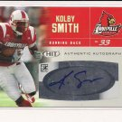 KOLBY SMITH LOUISVILLE/CHIEFS HIT ROOKIE AUTO CARD