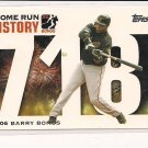 BARRY BONDS 2006 TOPPS HOME RUN HISTORY CARD 718