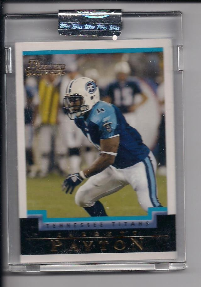 JARRETT PAYTON TITANS 2004 BOWMAN UNCIRCULATED ROOKIE CARD