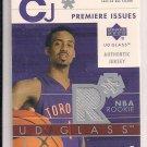 CHRIS JEFFERIES RAPTORS 2003 UPPER DECK GLASS ROOKIE JERSEY