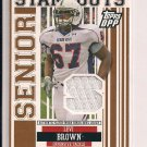 LEVI BROWN 2007 TOPPS DPP JERSEY CARD