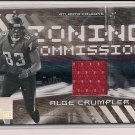 ALGE CRUMPLER FALCONS 2005 DONRUSS ELITE ZONING COMMISSION JERSEY CARD
