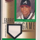 RAFAEL FURCAL BRAVES/DODGERS 2001 LEAF CERTIFIED FABRIC OF THE GAME JERSEY CARD