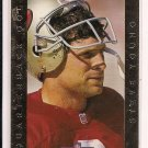 STEVE YOUNG 49ERS 1992 PRO LINE QUARTERBACK GOLD CARD