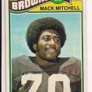 MACK MITCHELL BROWNS 1977 TOPPS CARD