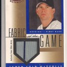 TODD HELTON ROCKIES 2001 LEAF CERTIFIED MATERIALS JERSEY CARD