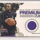 VINCE CARTER 2002-03 FLEER PREMIUM GEAR WARM-UPS CARD