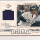 LARRY WALKER ROCKIES 2001 UD PROS & PROSPECTS SPECIALTY JERSEY CARD