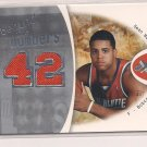 SEAN MAY BOBCATS 2006-07 FLEER EX BEHIND THE NUMBERS JERSEY CARD #'D 099/199!