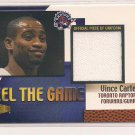 VINCE CARTER RAPTORS 2000 FLAIR SHOWCASE FEEL THE GAME SHORTS CARD