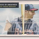 JEFF BRADEN FANCOEUR BRAVES 2007 POG BAT CARD