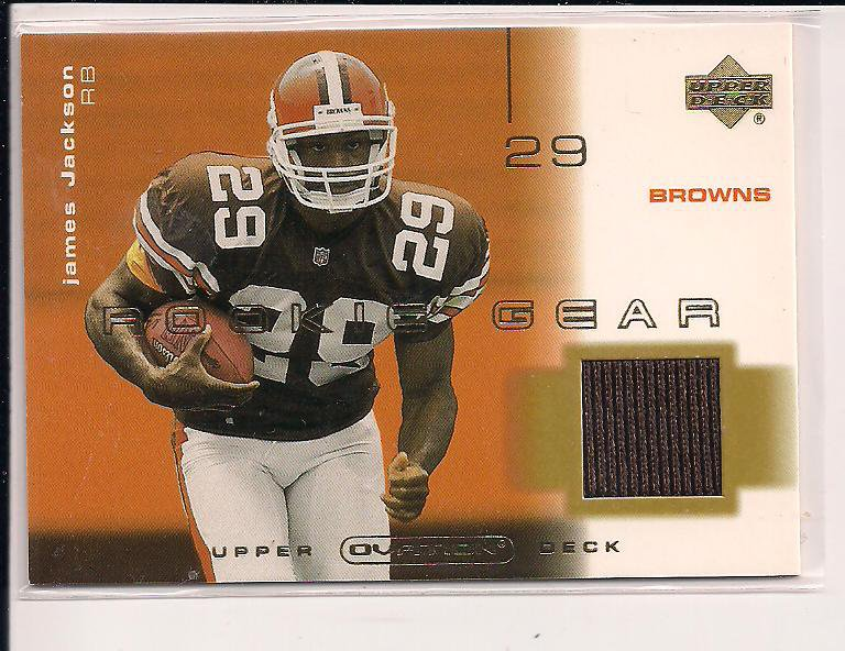 JAMES JACKSON BROWNS 2001 UD OVATION ROOKIE GEAR JERSEY CARD