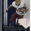 LADELL BETTS REDSKINS 2010 PANINI EPIX JERSEY CARD