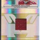 BRANDON WILLIIAMS 49ERS 2006 LEAF CERTIFIED FRESHMAN FABRIC JERSEY CARD