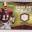 DEVIN THOMAS REDSKINS 2009 UD GAME DAY GEAR JERSEY CARD