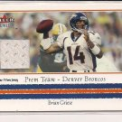 BRIAN GRIESE BRONCOS 2002 FLEER PREMIUM JERSEY CARD