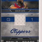 BARON DAVIS CLIPPERS 2009-10 ABSOLUTE TOOLS OF THE TRADE JERSEY CARD #'D 014/100!