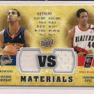 BRANDON WRIGHT/CHANNING FRYE 2009-10 UD VS DUAL JERSEY CARD