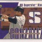 LUIS GONZALEZ DIAMONDBACKS 2002 UD SUPERSTAR SLAM JERSEY CARD