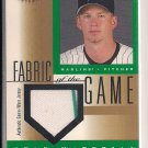 A.J. BURNETT LEAF CERTIFIED FABRIC OF THE GAME JERSEY CARD