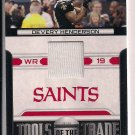 DEVERY HENDERSON SAINTS 2011 PANINI ABSOLUTE TOOLS OF THE TRADE JERSEY CARD #'D 187/250!