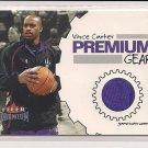 VINCE CARTER RAPTORS 2002-03 FLEER PREMIUM GEAR WARM-UPS CARD