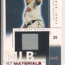 ANDRUW JONES BRAVES 2004 FLEER HOT PROSPECTS HOT MATERIALS JERSEY CARD #'D 21/50!
