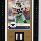 TERRY GLENN COWBOYS FLEER CARD W/JERSEY SWATCH