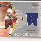 KEVIN WARE REDSKINS 2003 UPPER DECK HONOR ROLL JERSEY CARD #'D 176/200!
