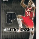 JASON TERRY 2002-03 UPPER DECK PRACTICE SESSION JERSEY CARD