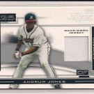 ANDRUW JONES BRAVES 2003 PLAYOFF PIECES OF THE GAME JERSEY CARD #'D 038/75!