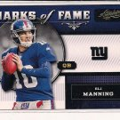 ELI MANNING GIANTS 2011 ABSOLUTE MEMORABILIA MARKS OF FAME INSTERT CARD