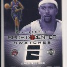 JALEN ROSE RAPTORS 2005-06 UPPER DECK SPORTCENTER SWATCHES JERSEY CARD