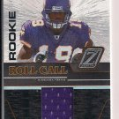 TROY WILLIAMSON VIKINGS 2005 DONRUSS ZENITH ROOKIE ROLL CALL JERSEY CARD