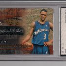 JUAN DIXON WIZARDS 2002 FLEER TRADITION PLAYGROUND RULES CARD GRADED FGS 10!
