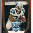 DEANGELO WILLIAMS PANTHERS 2010 TOPPS 75TH DRAFT ANNIVERSARY CARD