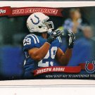 JOSEPH ADDAI COLTS 2010 TOPPS PEAK PERFORMANCE INSERT