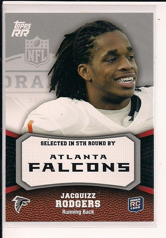 JACQUIZZ RODGERS FALCONS 2011 TOPPS RR ROOKIE CARD