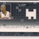 T.J. FORD 2007-08 TOPPS LUXURY BOX MEZZANINE RELIC JERSEY CARD#'D 157/199!