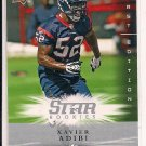 XAVIER ADIBI TEXANS 2008 UD FIRST EDITION STAR ROOKIES CARD