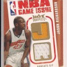JASON RICHARDSON BOBCATS 2008-09 FLEER HOT PROSPECT GAME ISSUE DUAL JERSEY CARD #'D 080/149!