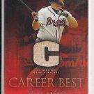 BRAIN MCCANN BRAVES 2009 TOPPS CAREER BEST GAME USED BAT CARD