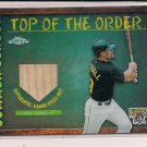 JASON KENDALL PIRATES 2002 TOPPS CHROME TOPP OF THE ORDER REFRACTOR GAME USED BAT CARD