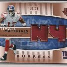 PLAXICO BURRESS 2007 UPPER DECK ULTIMATE MATERIALS JERSEY CARD #'D 16/35!