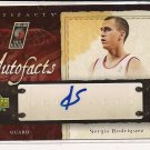 SERGIO RODRIGUEZ 2007-08 UPPER DECK ARTIFACTS AUTOFACTS AUTOGRAPHED CARD