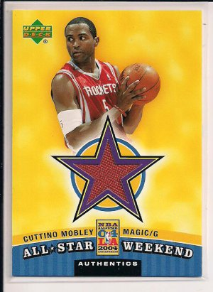 CUTINO MOBLEY MAGIC 2004 UPPER DECK ALL STAR WEEKEND JERSEY CARD