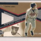 CHIPPER JONES BRAVES 2002 UPPER DECK ULTIMATE COLLECTIONS JERSEY CARD #'D 123/199!